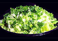 Simplicity itself - chopped organic Romaine lettuce. It's a nice switch from iceberg lettuce. A little tougher, chewier, less crisp. But, very nourishing!
