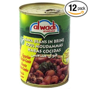 Al Wadi Foul Moudammas - Fava Beans in Brine, 14-Ounce