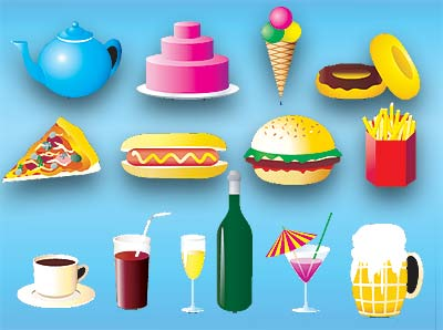 Food Categories - Vegetables, Fruits, Meat, Beverages,  Drinks, Grains, Seeds, Sweets